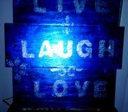 Leef de Liefde van de Lach stock afbeelding