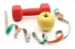 Leef gezond - fruit en sporten Royalty-vrije Stock Fotografie