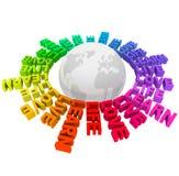 Leef het Leven van de Liefde leren - Woorden rond Aarde Stock Foto