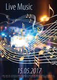 Leef muziek Royalty-vrije Stock Foto