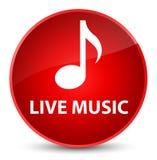 Leef muziek elegante rode ronde knoop Stock Foto's