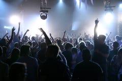 Leef muziek en mensen Stock Foto