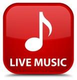 Leef muziek speciale rode vierkante knoop Royalty-vrije Stock Foto