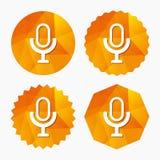Leef muziekteken Sprekerssymbool Live Music Sign Stock Afbeelding