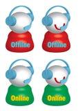 Leef Offline Online Hulp stock illustratie