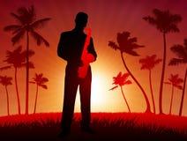 Leef saxofoonuitvoerder Royalty-vrije Stock Afbeeldingen