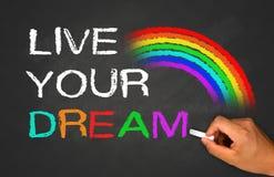Leef uw droom stock fotografie