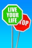 Leef uw leven vector illustratie