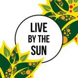 Leef van de zon vector illustratie