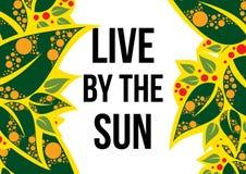 Leef van de zon stock illustratie