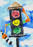 Leef verkeer met emoties Stock Afbeelding