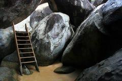 Leeftijdlooze Ladder in Maagdelijke Gorda stock afbeelding