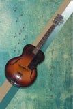 Leeftijdloze gitaar royalty-vrije stock fotografie
