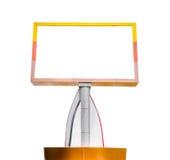 Leeg aanplakbord dat op witte achtergrond wordt geïsoleerde Royalty-vrije Stock Fotografie