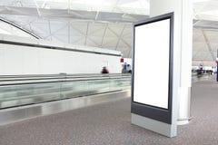 Leeg Aanplakbord in internationale luchthaven Royalty-vrije Stock Foto