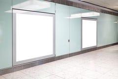 Leeg Aanplakbord in luchthaven Royalty-vrije Stock Foto's