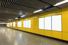 Leeg Aanplakbord in metro metropost stock fotografie