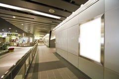 Leeg aanplakbord in metro post Royalty-vrije Stock Fotografie