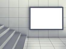 Leeg aanplakbord in ondergrondse zaal stock illustratie