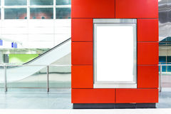Leeg aanplakbord op moderne metro Stock Foto's
