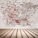 Leeg abstract binnenland met houten vloer Royalty-vrije Stock Afbeeldingen