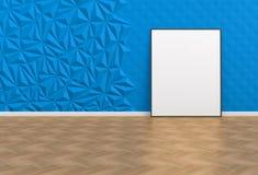 Leeg beeld in een blauwe ruimte vector illustratie