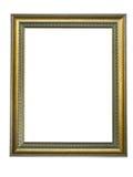 Leeg beeld gouden frame met een decoratief patroon Royalty-vrije Stock Afbeeldingen