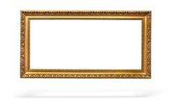 Leeg beeld gouden frame met een decoratief patroon Royalty-vrije Stock Afbeelding