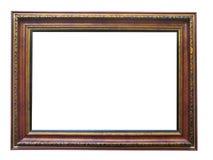 Leeg beeld houten frame met patroon Stock Foto's