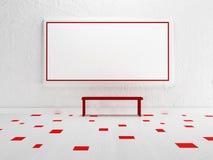 Leeg beeld op de muur, Royalty-vrije Stock Fotografie