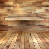 Leeg binnenland met houten plank. EPS 10 Royalty-vrije Stock Afbeeldingen