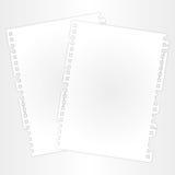 Leeg blad en laag Royalty-vrije Stock Afbeeldingen