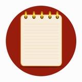 Leeg blad van notitieboekje gele kleur stock illustratie