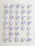 Leeg blauw dwarspatroon Royalty-vrije Stock Fotografie