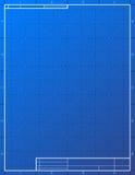 Leeg blauwdrukdocument voor het opstellen Stock Foto's