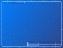 Leeg blauwdrukdocument voor het opstellen Royalty-vrije Stock Afbeeldingen