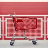 Leeg boodschappenwagentje De grafische kleinhandels de industrie het winkelen achtergrond van pictogrammenelementen stock afbeelding