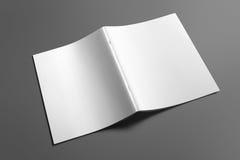 Leeg Brochuretijdschrift op grijs om uw ontwerp te vervangen Royalty-vrije Stock Fotografie
