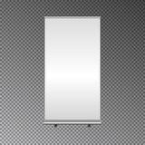Leeg Broodje op Bannertribune De handel toont cabinewit en spatie 3d vectordieillustratie op DA wordt geïsoleerd vector illustratie