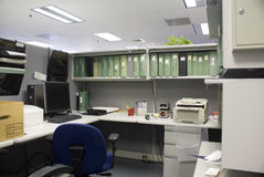 Leeg bureau Stock Foto's