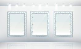 Leeg canvas drie vector illustratie