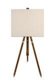 Leeg canvas op een schildersezel Stock Foto