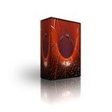 Leeg CD DVD doosmalplaatje royalty-vrije illustratie