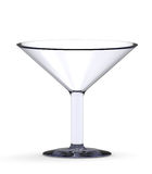 Leeg cocktailglas dat op het wit wordt geïsoleerde Royalty-vrije Stock Foto