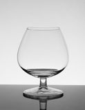 Leeg cognacglas Royalty-vrije Stock Foto