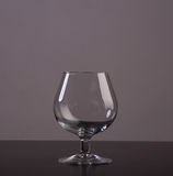 Leeg cognacglas Stock Foto