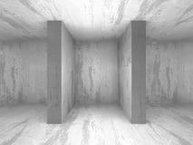 Leeg concreet donker ruimtebinnenland met licht Stock Foto