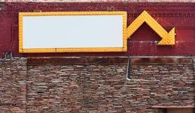 Leeg de bouw teken royalty-vrije stock foto