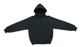 Leeg de kleuren zwart vooraanzicht van het hoodiesweatshirt Royalty-vrije Stock Foto