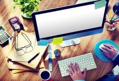Leeg de Mens van het het Huisbureau van de Computerdesktop het Werk Concept Stock Fotografie